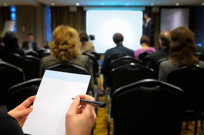 Business seminar.