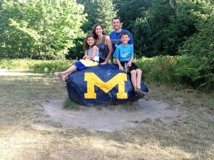 My family at Camp Michigania, August 2016
